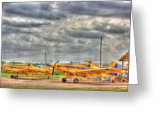 Crop Duster 003 Greeting Card by Barry Jones