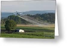 Crop Dusting Greeting Card