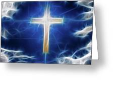 Cross Abstract Greeting Card