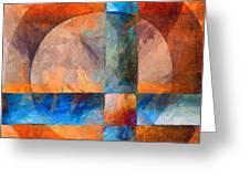 Cross And Circle Abstract Greeting Card