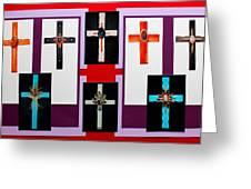 Cross Collage II Greeting Card