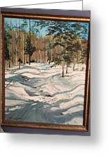 Cross Country Ski Trail Greeting Card
