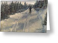 Cross Country Skiing  Greeting Card