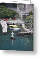 Cross In A Harbor Greeting Card