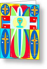 Cross Of Colors Greeting Card