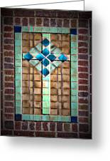 Cross On The Wall Greeting Card