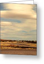 Cross Road In New Mexico Greeting Card