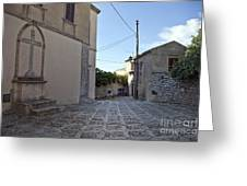 Cross Road In Sicily Greeting Card