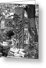Cross Series IIi In Black And White Greeting Card