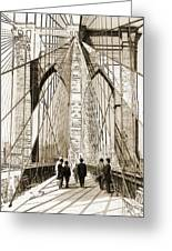 Cross That Bridge Vintage Photo Art Greeting Card