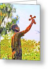 Cross To The Sky Greeting Card