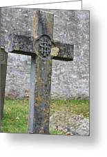 Cross Tombstone St. Mary's Wedmore Greeting Card