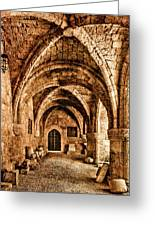 Rhodes, Greece - Cross Vault Greeting Card