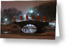 Crossing Gapstow Bridge Greeting Card