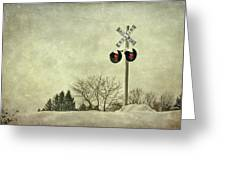 Crossing Over Greeting Card by Evelina Kremsdorf