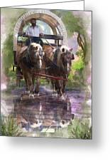 Crossing The Creek Greeting Card