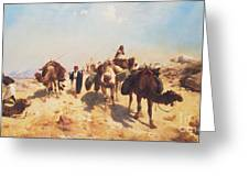 Crossing The Desert Greeting Card by Jean Leon Gerome
