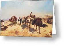 Crossing The Desert Greeting Card