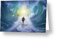 Crossing The Red Sea  Greeting Card