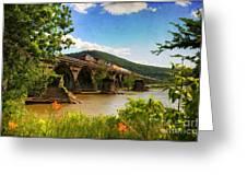 Crossing The Susquehanna Greeting Card