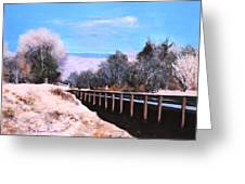 Crossing The Wash Greeting Card