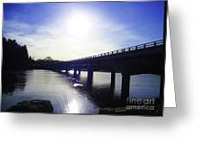 Crossing The Wisconsin River Greeting Card