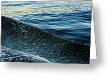 Crossing Waves Greeting Card