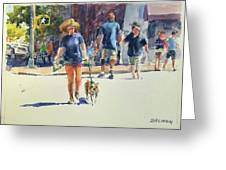 Crossing West 79th Greeting Card