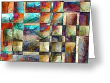 Crossover Abstract Pencil Greeting Card