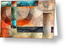 Crossroads Abstract Greeting Card