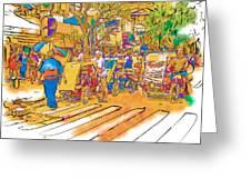 Crosswalk In The Philippines Greeting Card by Rolf Bertram