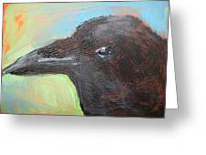 Crow Aceo Greeting Card