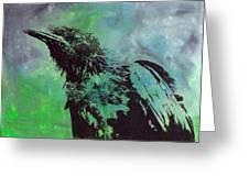 Crow II Greeting Card