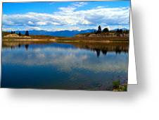 Crow Lake Montana Greeting Card