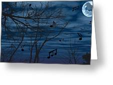 Crow Sings At Midnight Greeting Card