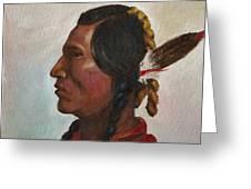 Crow Warrior Greeting Card