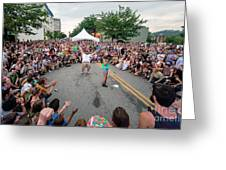 Crowd At Bele Chere Festival Greeting Card