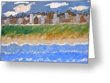 Crowded Beaches Greeting Card