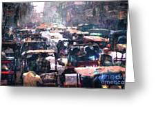 Crowded Streets Greeting Card