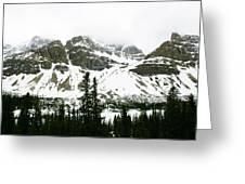 Crowfoot Mountain At Bow Lake Greeting Card