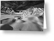 Crowley Lake Snow Fields Greeting Card