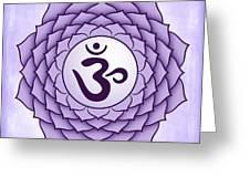 Crown Chakra Greeting Card