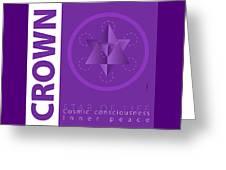 Crown Chakra Series Three Greeting Card