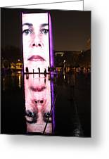 Crown Fountain Reflections Greeting Card