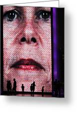 Crown Fountain Silhouettes Greeting Card