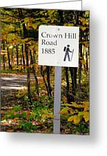 Crown Hill Road 1885 Greeting Card