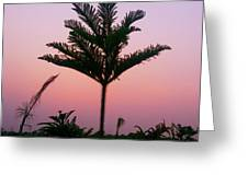 Crown In Pink Sky Greeting Card