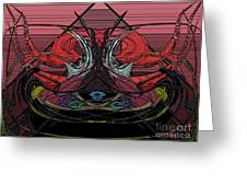Crown Of Hell Greeting Card
