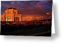 Crown Point At Sunset Greeting Card
