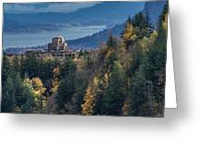 Crown Point In The Fall Greeting Card